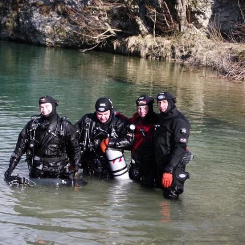 Flavio con il gruppo esplorazione Natisone