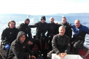 Gruppo Tech 1 di ritorno dall'immersione